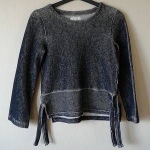 MADEWELL cotton ribbed Baja style sweater.